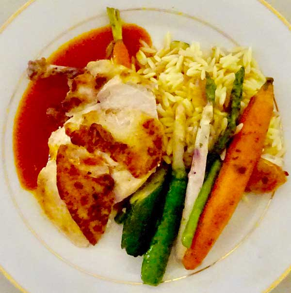 Photo of corporate catering chicken dish.