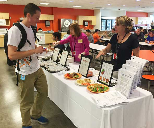 Photo of Café Services corporate dining health and wellness fair