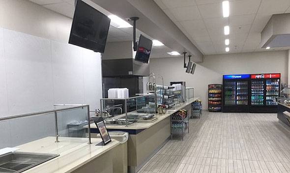 Photo of newly remodeled cafeteria