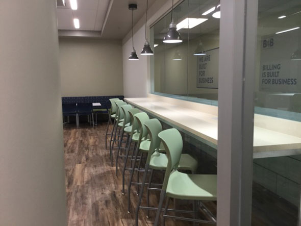 Photo of new cafeteria dining area