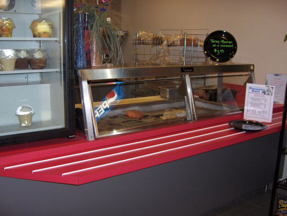 Photo of old Comcast cafeteria food station