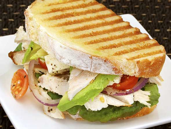 Photo of panini sandwich